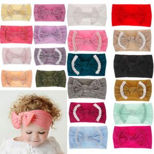 Heißer Verkauf-weicher Baby-Kind-Kleinkind-Bogen Hairband Stirnband Turban-Knoten Velvet Head-Wrap