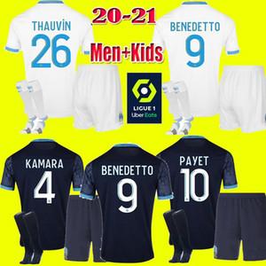 erkekler çocuklar 2020 2021 Olimpik Marsilya BENEDETTO Futbol forması PAYET 20 21 OM Dışarıda Üçüncü Marsilya Futbol forması THAUVIN Maillot De Ayak