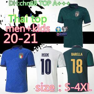 حجم: S-4XL 20 21 إيطاليا لكرة القدم الفانيلة 2020 2021 uropean المنتخب الوطني كأس إيطاليا بونوتشي متحرك INSIGNE قميص مجموعات الرجال الاطفال كرة القدم جيرسي