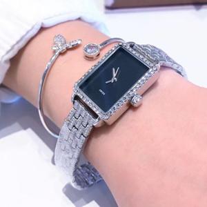 mulheres Designer de moda de luxo famosos assistir Dial Square relógio populares vestido da senhora retângulo Quartz relógio de pulso Feminino Relógio Montre Femme