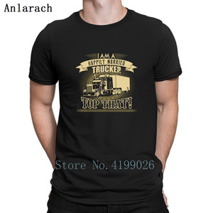 Happily Married Trucker T-Shirts Spring Male Tee Top Print T Shirt Crazy Euro Size Authentic Tee Shirt Novelty