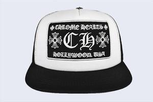 New Korean Wave Cap Brief Stickerei Bend-Fashion Cap Male Hip Hop-Reisen Visor Mesh-weiblich Kreuz Punk Baseball Caps