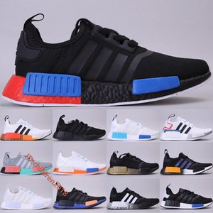 Top NMD R1 Running Shoes For Men Women Sneakers Fashion Designer Core Black Lush Red Triple White Solar Orange Sports Shoes Size 36-45