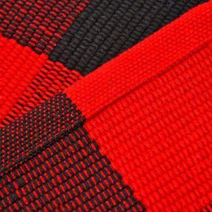 Las alfombras de algodón a cuadros Felpudo Alfombras tartán Buffalo a cuadros en capas puerta Mats al aire libre para porche frontal Entrada de forma Cocina Baño EEA1352-8