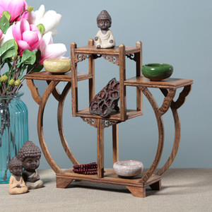 Chicken Wing Wood Solid Wood Bo Gujia Duobao Pavilion Literary Play Exhibition Frame Antique Decorative Wood Craft Arrangements