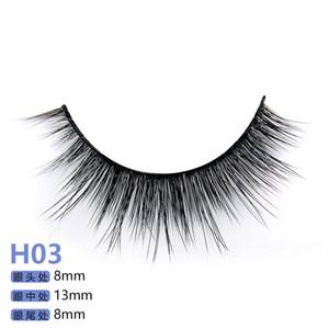 Serie H 20 estilo 5 pares / set visón 3D False EyeLashes 5 pares 3D pestañas falsas naturales H3