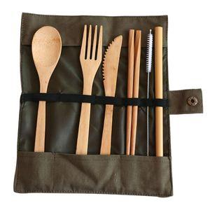couverts en bambou set cuillère réutilisable couteau fourchette jetable écologique pique-nique 100 Couverts Voyage% biodégradable vaisselle