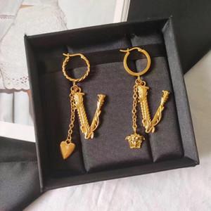 Vendita della fabbrica di alta qualità del cuore di lusso e ciondolo viso per le donne di nozze goccia di modo degli orecchini fow orecchini gioielli PS5692