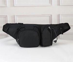 Bag cintura mais novo lona impermeável para homens ombro Bumbag Corpo Cruz Bolsa cintura Saco Temperamento Bumbag Cruz pochete homens bolsa cintura sacos