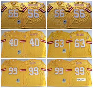 NCAA Football 63 Lee Roy Selmon 99 Warren Sapp Jerseys 40 Mike Alstott 56 Hardy Nickerson Couleur Jaune Homme Vintage Stitch Bon