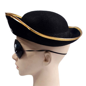 Tri Corner Pirate Hat - Three Cornered Buccaneer Costume Accessory Hat New Arrival