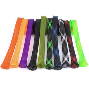 1 stück 35mm * 170 cm Elastische Tangle Angelrute Schutzhülle Jacke Net Tube Cover Sleeve Angelrute Schutz
