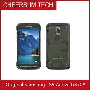 abierto original Samsung Galaxy S5 activa Samsung G870A teléfono móvil de cuatro núcleos 5.1 pulgadas 16MP reformado teléfono celular