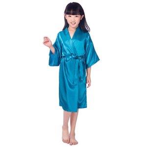 وصول جديد بنات الطفل كيد الحرير الحرير كيمونو الجلباب حمام ملابس الزفاف زهرة فتاة فستان ليلة