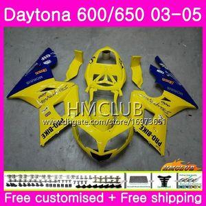 Body For Triumph Daytona 650 600 Daytona600 02 03 04 05 Cadre 42HM.20 Daytona650 Daytona 600 650 2002 2003 2004 2005 Carénage supérieur bleu