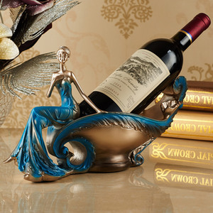 Wine Europeia Beleza Rack Accessories Artesanato Wine Resina Titular Sala TVCabinet Home Furnishing Decoração do ofício