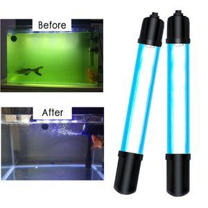 Стерилизация Fish Tank UV Lamp Аквариумы освещение 5W / 7W / 9W / 11W LED Bar Light подводный клип Aquario лампы 110/220