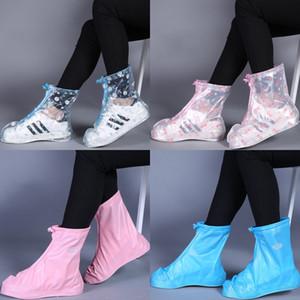 Pioggia di avvio Overshoes non monouso pioggia Scarpe copertura impermeabile per bambini antisdrucciolevoli pioggia Snow Boots Wear 4 colori