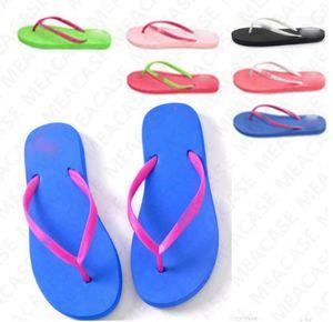 2020 Luxury Women's Candy Colors Sandals Summer Letter Beach Slippers Flip Flops Girls Soft Beach Slipper Shoes 2pcs pair S M L D7307