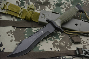 Боевой прямой нож 440 стальное лезвие спасательных утилита ножи открытый выживания тактический инструмент оборонной сфере Junle спортивных передач Рэмбо экс