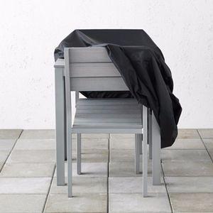 Alluminio Mobili antipolvere copertura per rattan Tabella poltrona impermeabile pioggia Garden Outdoor Patio Custodia protettiva Coperture antipioggia Impermeabili