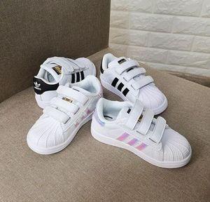 новый глава бренда Shell Boy девушки кроссовки Суперстар детские ботинки новый стан обувь Мода кузнец кроссовки кожаные спортивные кроссовки