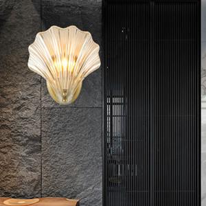 Настенный светильник Luxury золота, роскошный хрусталь раковина 2019, лампочки, спальни светильники, внутренние светильники