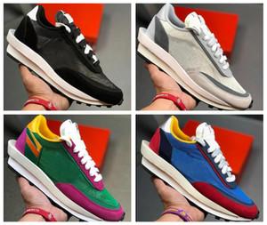 Los zapatos corrientes de la parte superior Sacai X LDV Waffle alba Entrenadores para hombre de las zapatillas de deporte para las mujeres del diseñador de moda Respira Zapatos Tripe S Negro Deportes 5.