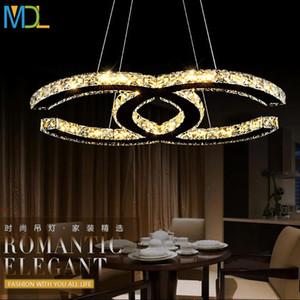 15w 18w 35w 48W Arte moderno simple Lámparas de cristal de cristal Ámbar de plata Montado en el techo Iluminación K9 Lámpara colgante Accesorios para el dormitorio AC110-240V