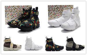 2018 Nuevo KITH x 15 Larga vida al rey Estilo de vida para hombre calzado deportivo informal 15s diseñador bordado Hombre Zapatillas de deporte zapatillas de deporte