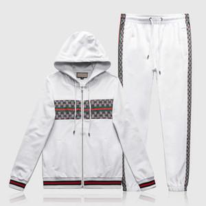 201819 디자이너 운동복 남성 럭셔리 땀 정장 가을 브랜드 남성 운동복 조깅 정장 재킷 + 바지 세트 레저 여성의 스포츠 S