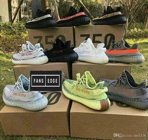 koşu ayakkabıları 36-46 açık Sneakers350V2 B37572 Yarı Dondurulmuş Sarı B37572 Mavi Ton Gri AH2203 Beluga 2.0 Gri / Kalın yeni renk kanye batı