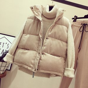 New Fashion Women Vest Coat Autumn Winter Warm Thick Short Waistcoat Female Parkas Cotton Sleeveless Corduroy Jacket Vest SF1431
