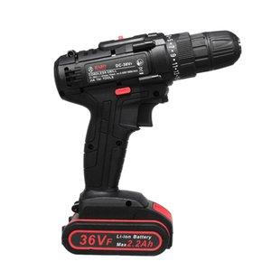 36V elettrico Cordless Drill cacciavite Dual Speed 25 LED con batteria agli ioni di litio di coppia