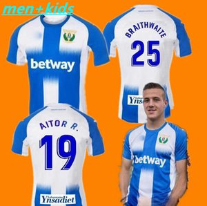 2019 2020 kids Leganes EN-NESYRI Soccer Jerseys Camiseta Primera Equipación 19 20 home maillots de foot PEREZ ZHAR J. SILVA Football shirt