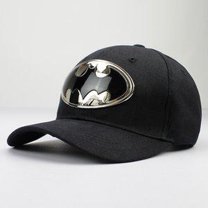 2018 기하학적 배트맨 금속면 아크릴 CASQUETTE 야구 모자 남성과 여성을위한 조정 가능한 스냅 백 모자