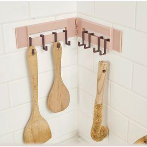 8 ganchos Organizador de montaje en pared en rack de cocina ropa de baño Escudo Sombrero Toalla de almacenamiento Percha titulares gancho