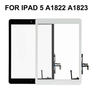 5ª iPad 10PCS para iPad Air A1822 A1823 Touch Screen digitalizador Frente lente de vidro de substituição DHL grátis