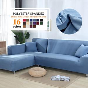Covers Cor Cinza cobrir sofá elástico esticar Sofá para Sala Copridivano Couch Covers secional de canto em forma de L Capa