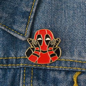 Örümcek-Adam Gwen Stacy Ve Deadpool Karikatür Sırt Çantası Giysi için Marvel Film Emaye Broş Pin Rozeti Takı