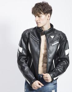 Traje de carreras de PU para hombre / chaquetas todoterreno de caballero / chaquetas de deporte al aire libre / chaquetas de motocicleta ropa de ciclismo a prueba de viento impermeable tiene protección