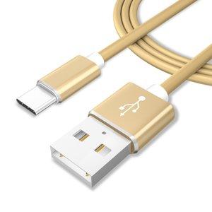 뜨거운 판매 사탕 색깔 유형 C 1M USB Calbe 알루미늄 합금 USB 맨끝 TPE 빠른 위탁 케이블 SamsungHuawei를위한 알루미늄 합금 USB 헤드폰 케이블