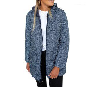 Designer cotone imbottito giacche tasca di modo reversibile da donna in cotone cappotti casual femmine Abbigliamento Leopard Print Womens