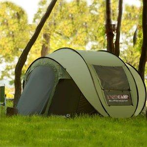 Tam Otomatik Hız Açık Ultralarge 4 ~ 5 Kişi ile Cibinlik Açık Kamp Plaj Çadır Güneş Barınak Carpas De Kamp