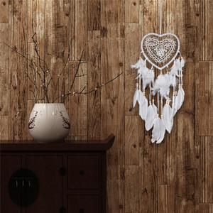 Yeni Kalp Şekli LED Dream Catcher Dantel Dreamcatcher Rüzgar Çanları Tüy Boncuk Asılı Dekorasyon Süs sevgililer Günü Hediyesi