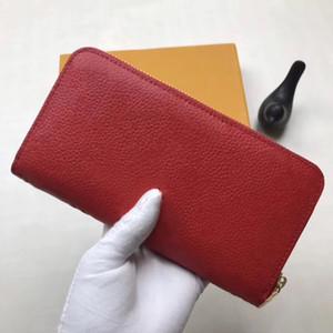 Lange Mappe Mädchen Student retro geprägte Geldbörse Reißverschluss langer Abschnitt aus weichem Leder mit großer Kapazität Brieftasche Handytasche Klassische Damen