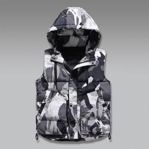 Winter Warm Hat Detachable Men Vest Sleeveless Casual Camouflage Jacket for Mens clothing Unisex Waistcoat Plus Large Size 7XL