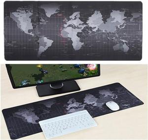 خريطة العالم الألعاب ماوس الوسادة كبيرة وسادة ماوس نقاط الفأر الكبير مات الحاسوب ماوس الفأر المطاط مكتب لوحة المفاتيح سطح حصيرة مع قفل الحافة