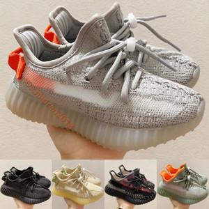 Kanye West 35O V2 Feu Arrière Enfants Chaussures De Course marque infantile Sneakers Cinder réfléchissant Lin désert Sage statique Enfants Chaussures Taille 26-35