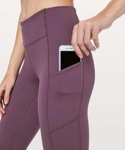 """Hız up sıkı 28 """" pantolon kadın Yoga koşucu pantolonu yüksek Bel pantolon tayt Lu / limon spor pantolon üst lululemon lulu lu yoga7a96#"""